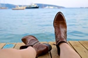skorzane buty